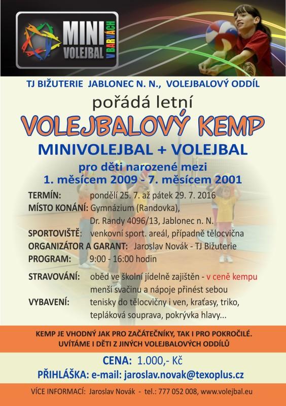 Volejbalový kemp TJ Bižuterie JAblonec