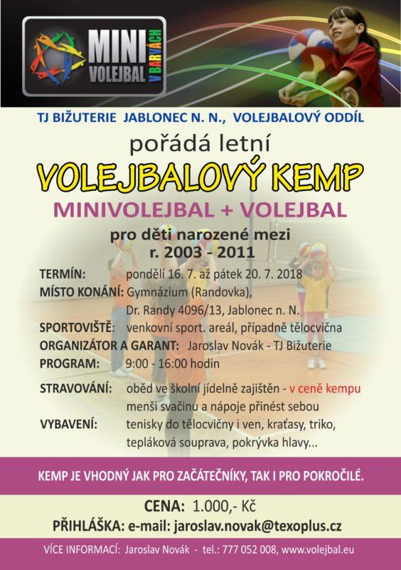 Volejbalový kemp TJ Bižuterie 2018
