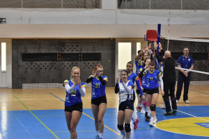 Volejbalistky TJ Bižuterie proti Malibu Mladá Boleslav